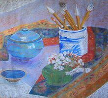 Still life in pastels by Mary Taylor
