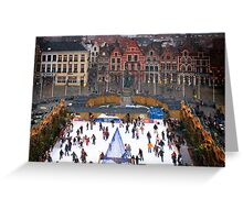 Winter Skaters Greeting Card