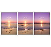 Hope Love Grace Photographic Print