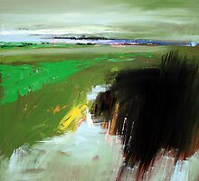 Green Field: Abstract Landscape  by Mario Zampedroni