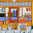 """Waiting at the Heart to Heart"" greeting card by Dawn Peterson"