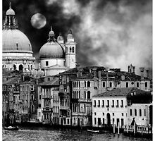 Santa Maria della Salute under the Moon by Philip Teale