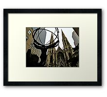 The Burden of the World: and it's potential solution... Framed Print