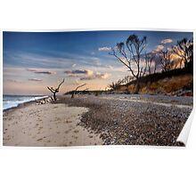 Summer evening at Benacre Beach, UK Poster