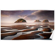 Sugar Loaf Islands, New Plymouth, NZ Poster
