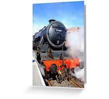 45407 Lancashire Fusilier  Greeting Card
