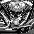 Harley- Davidson Road King Detail by David  Barker