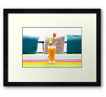 Fresh orange juice in Paradise Framed Print