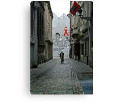 walking alone Canvas Print