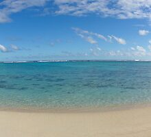Rarotonga Beach Panorama by Adam Jones
