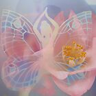 Wings of Grace by Emma  Wertheim~Blue Butterfly Art