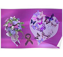 Purple Passion for Life Poster