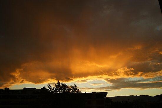 blazing sky by Fran E.