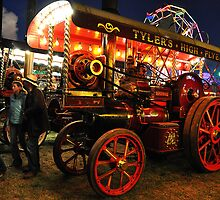Showmans engines at night by Rob Hawkins