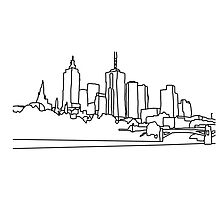 City scape architect drawing by Scott Barker
