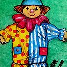 Illustration - Children's Book - Clown / Hanswors by Mariaan Maritz Krog Fine Art Portfolio