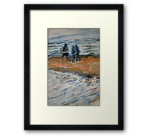Hiking Beside Moving Waters Framed Print