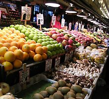 Pikes Place fruit and vegetable stand.....#2 by DonnaMoore