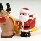 Father Christmas & Rudolf by Martin Jones