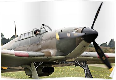 Taxiing Hurricane by Steve Churchill
