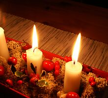 Christmas candles by sceneryphotosto