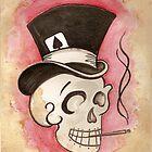 Tophat Skullie by TiaVamp