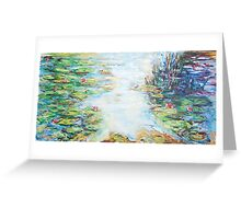 Light over the Pond  Greeting Card