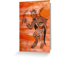Orange Devil Greeting Card