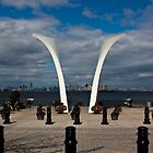 9/11 Memorial on Staten Island, New York. by Edward Mahala