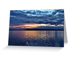 Puget Sound Sunset Greeting Card