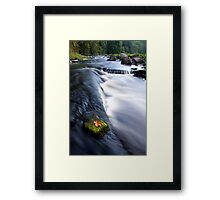 Picturesque countryside river Framed Print
