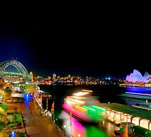 city of sydney at night by Simon Leung