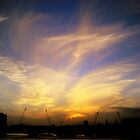 London Sunset over River Thames by Chris Millar