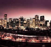 Downtown Calgary at Night by JasonWilliams