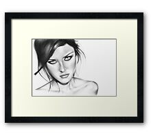 You lied Framed Print