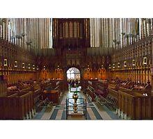 The Choir Stalls Photographic Print