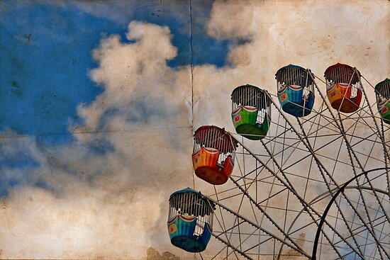 Postcard of Adelaide Ferris Wheel by Stephen Mitchell