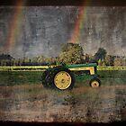 John Deere Double Rainbow by Shelly Harris