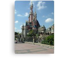 Disneyland Paris castle Canvas Print