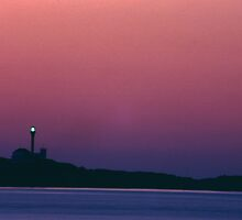 Late day - Yarmouth Light by Harv Churchill