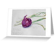 Red Onion and Spring Onions Greeting Card