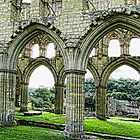 Rievaulx Abbey Arches by Audrey Clarke