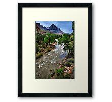 A River Runs Through Zion Framed Print
