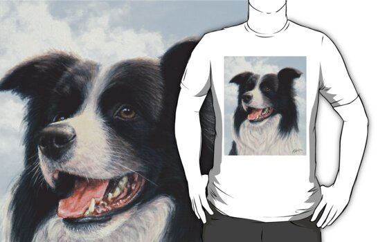 Border Collie Portrait by John Silver
