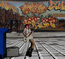 Haight and Ashbury Street Jammin' by Sazzart