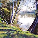 The Goulburn River - Upstream by Lynda Robinson