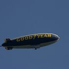 Goodyear blimp..Flying in a blue dream by jammingene