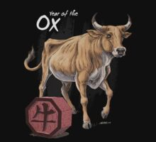 Year of the Ox (for dark shirts) Kids Clothes