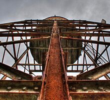 Water Tower From Below by Scott Sheehan