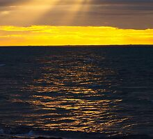 Port Phillip Bay sunset. by Julie Sleeman